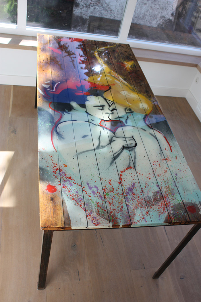 Graffiti tafel in epoxy