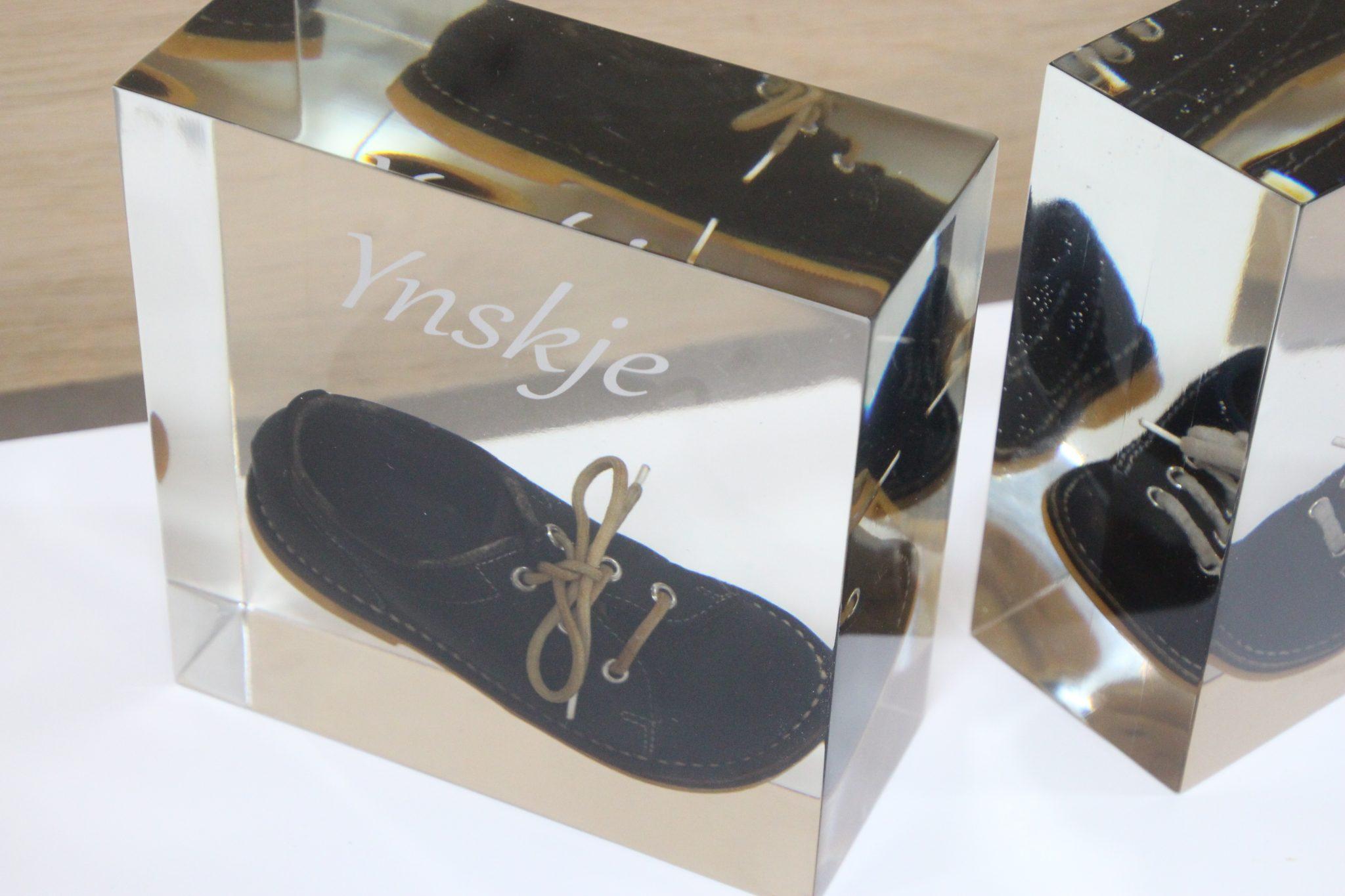 eerste schoen in epoxy
