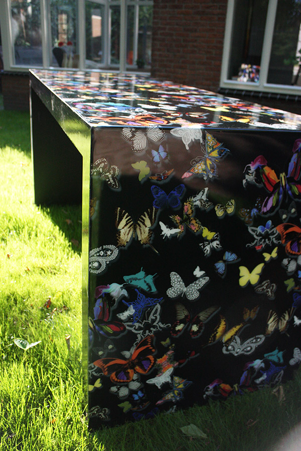 Tafel in epoxy gieten